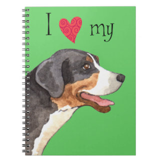 I Love my Greater Swiss Mountain Dog Note Book