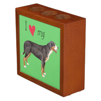 I Love my Greater Swiss Mountain Dog Pencil Holder