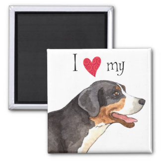 I Love my Greater Swiss Mountain Dog Square Magnet