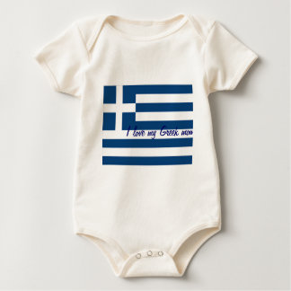 I love my greek mom baby t-shirts