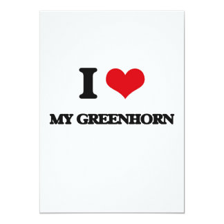 I Love My Greenhorn 13 Cm X 18 Cm Invitation Card
