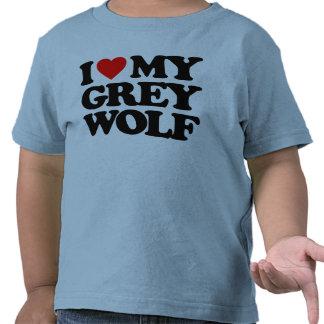 I LOVE MY GREY WOLF SHIRT