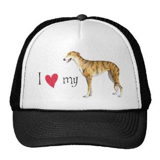 I Love my Greyhound Cap