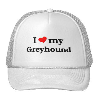 I love my Greyhound Trucker Hats