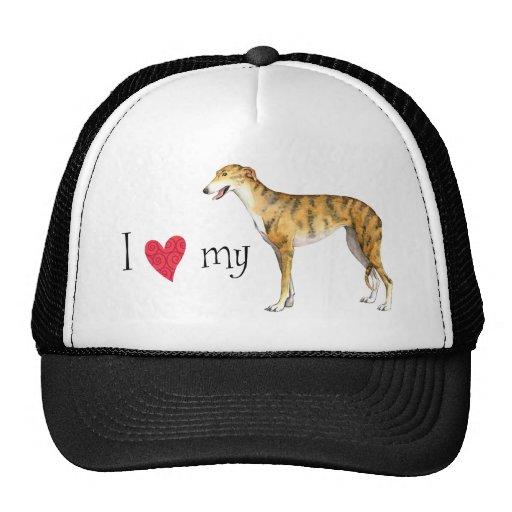I Love my Greyhound Mesh Hats