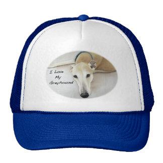 I Love my Greyhound Hat