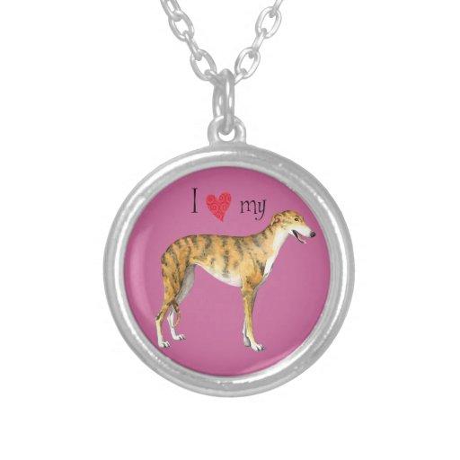I Love my Greyhound Necklaces