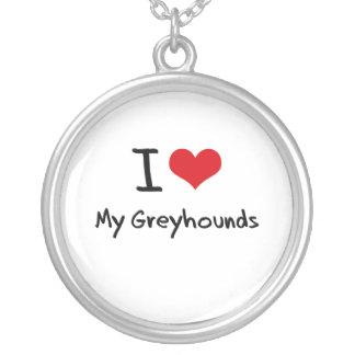 I Love My Greyhounds Necklace