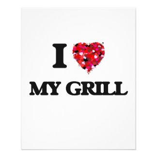 I Love My Grill 11.5 Cm X 14 Cm Flyer
