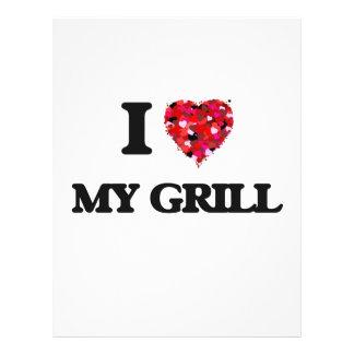 I Love My Grill 21.5 Cm X 28 Cm Flyer