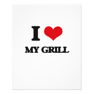 I Love My Grill Personalized Flyer