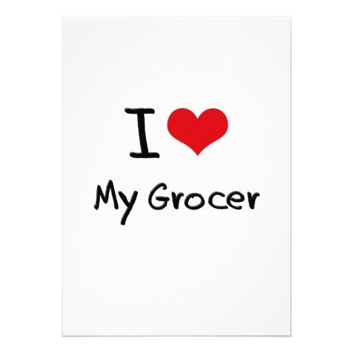 I Love My Grocer Custom Invite