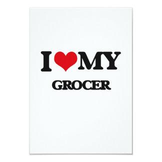 "I love my Grocer 3.5"" X 5"" Invitation Card"