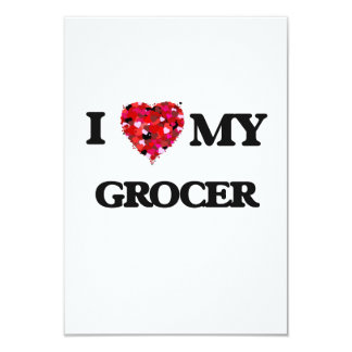 I love my Grocer 3.5x5 Paper Invitation Card