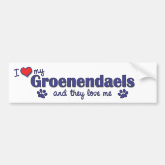 I Love My Groenendaels (Multiple Dogs) Bumper Sticker