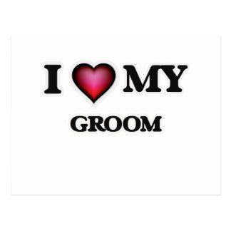 I love my Groom Postcard