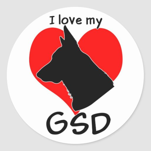 I love my GSD stickers
