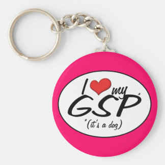 I Love My GSP (It's a Dog) Key Ring