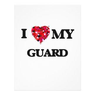 I love my Guard 21.5 Cm X 28 Cm Flyer