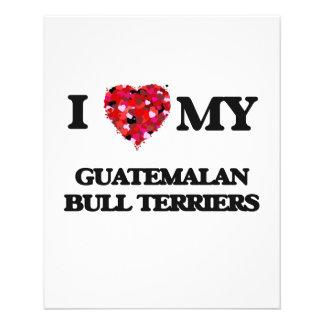 I love my Guatemalan Bull Terriers 11.5 Cm X 14 Cm Flyer