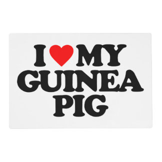 I LOVE MY GUINEA PIG LAMINATED PLACEMAT