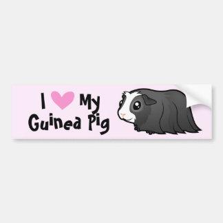 I Love My Guinea Pig (long hair) Bumper Sticker