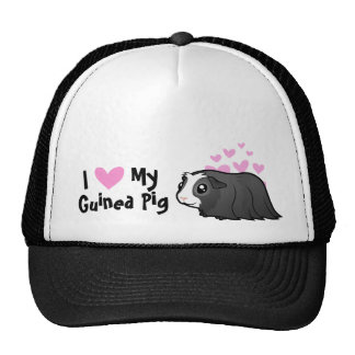 I Love My Guinea Pig (long hair) Cap