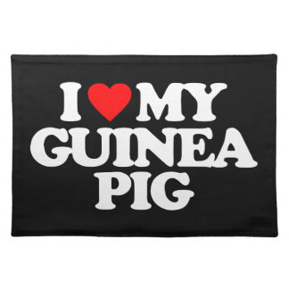 I LOVE MY GUINEA PIG PLACEMATS