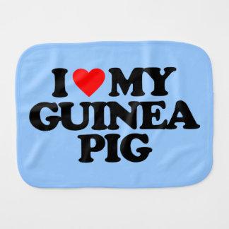 I LOVE MY GUINEA PIG BURP CLOTH