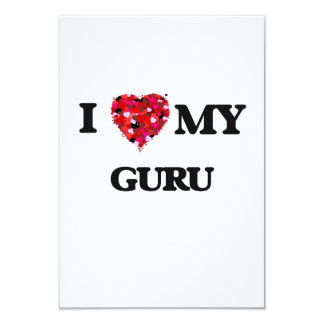 I love my Guru 9 Cm X 13 Cm Invitation Card