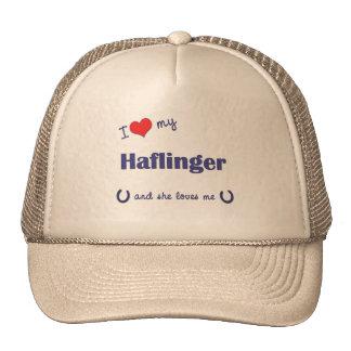 I Love My Haflinger Female Horse Hat