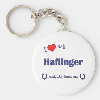 I Love My Haflinger (Female Horse) Keychain