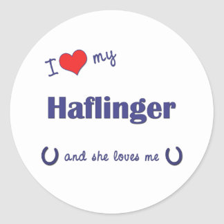 I Love My Haflinger (Female Horse) Classic Round Sticker