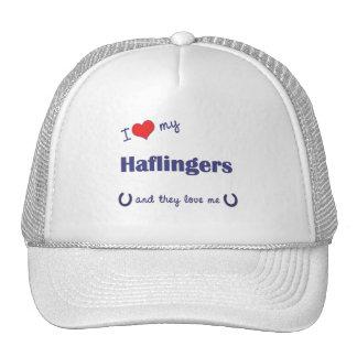 I Love My Haflingers Multiple Horses Trucker Hats