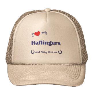 I Love My Haflingers (Multiple Horses) Hats