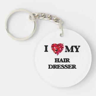 I love my Hair Dresser Single-Sided Round Acrylic Key Ring