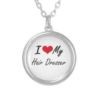 I love my Hair Dresser Round Pendant Necklace