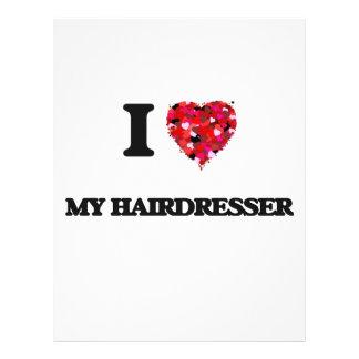 I Love My Hairdresser 21.5 Cm X 28 Cm Flyer