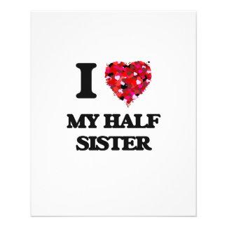 I Love My Half Sister 11.5 Cm X 14 Cm Flyer