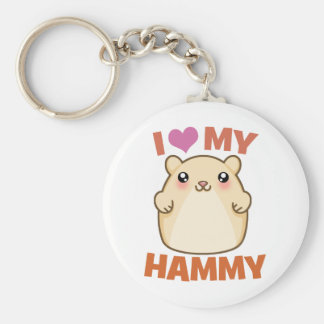 I Love My Hammy Basic Round Button Key Ring