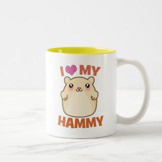 I Love My Hammy Two-Tone Coffee Mug