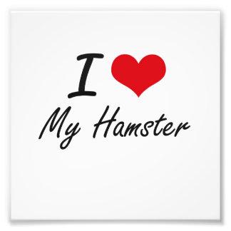 I Love My Hamster Art Photo