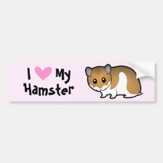 I Love My Hamster (syrian) Bumper Sticker