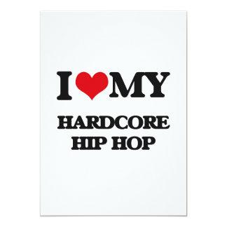 I Love My HARDCORE HIP HOP Custom Announcement Card