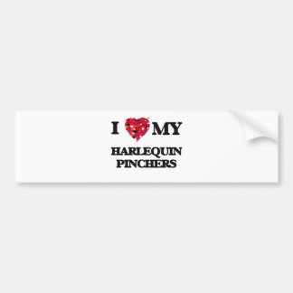 I love my Harlequin Pincher Bumper Sticker