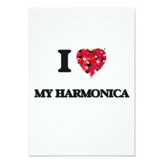 I Love My Harmonica 13 Cm X 18 Cm Invitation Card