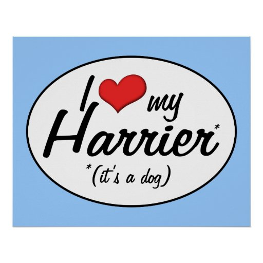 I Love My Harrier (It's a Dog) Poster