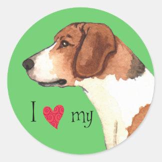 I Love my Harrier Round Sticker