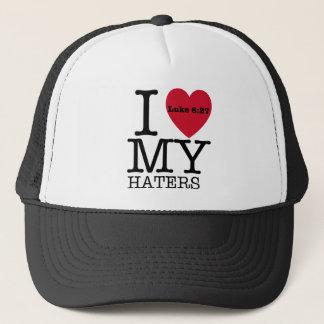 I LOVE MY HATERS Luke 6:27 Trucker Hat