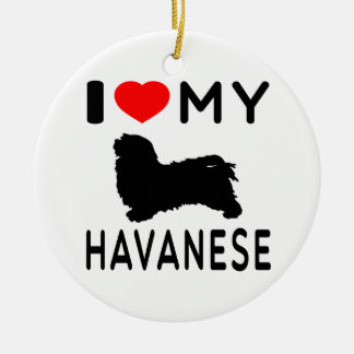I Love My Havanese Christmas Ornament